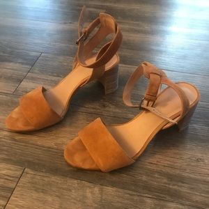 Madewell Suede leather ankle strap sandal heels
